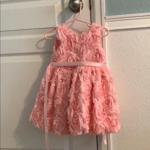 Pink Rosette Dress